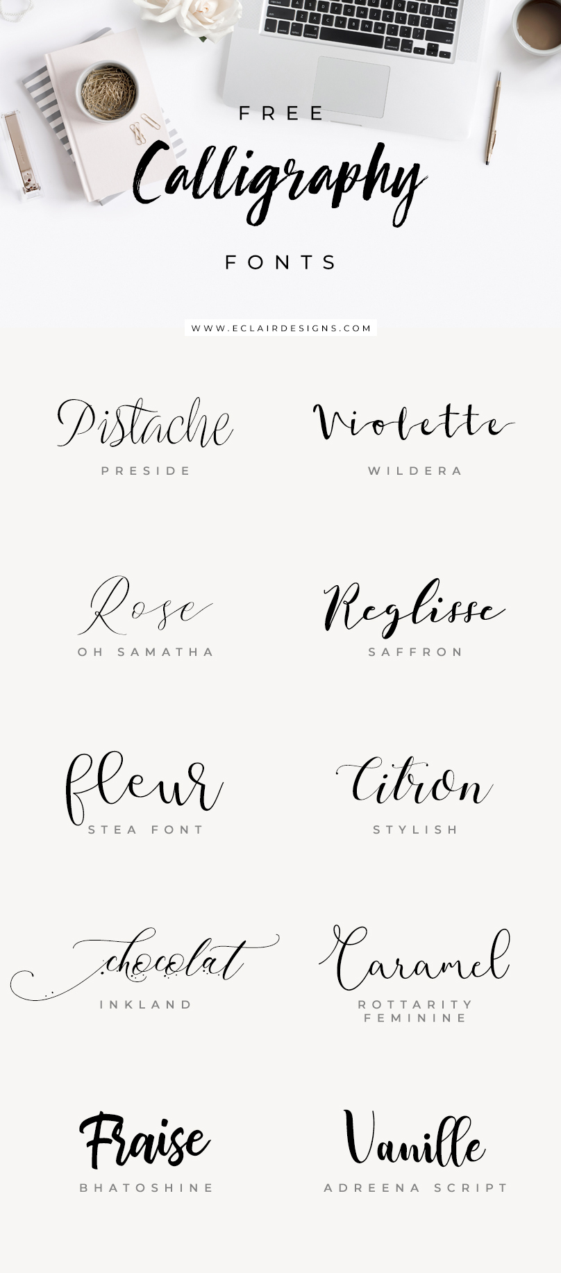 10 free calligraphy fonts eclair designs